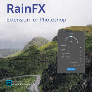 RainFX extension for Photoshop